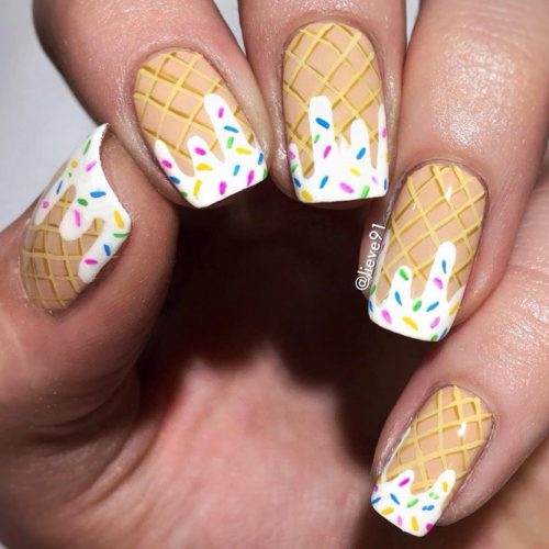 Cream Nail Art: 24 FUNKY SUMMER NAIL DESIGNS TO IMPRESS YOUR FRIENDS