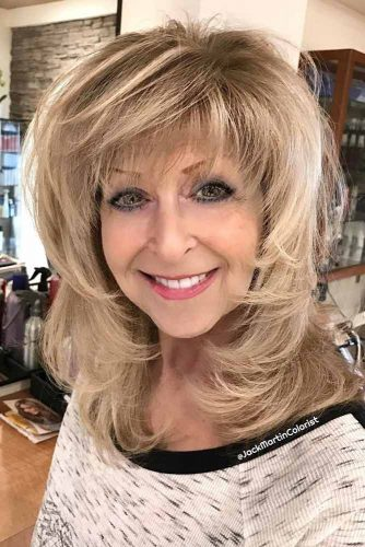 10 Gorgeous Medium Length Hairstyles For Women Over 50 My Stylish Zoo