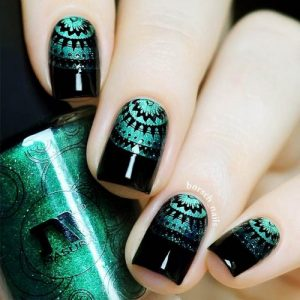 27 trendy black nails designs for dark colors lovers  my