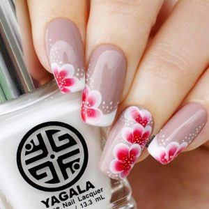 Trendy Flower Nail Designs