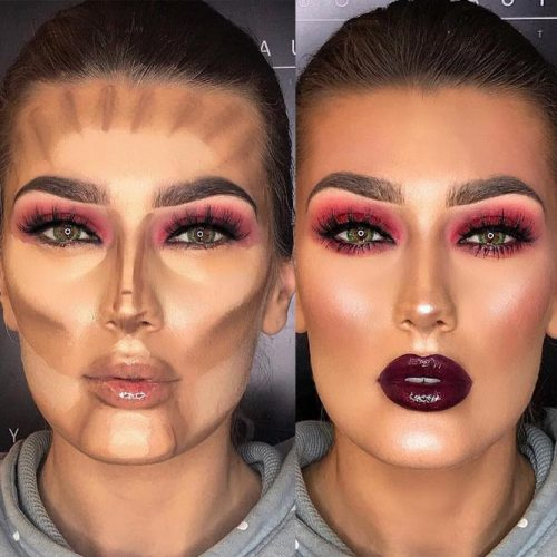 The thing you should steer clear of in contour makeup is shimmer. Your product has to be completely matte. Shimmer attracts light and brightens up the part ...