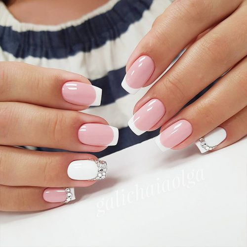 And One Of The Reasons Why French Manicures Are Still Por Today Is That They Very Easy For Short Nails Whether You Have Long Or