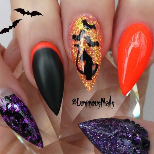 34 STUNNING DESIGNS FOR STILETTO NAILS FOR A DARING NEW LOOK My