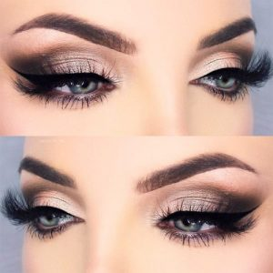 Even though blue is a cool-toned, you can observe that it can be complimented with warm eyeshadow shades, as well. Neutral eyeshadow works great for a day ...