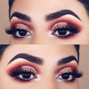 In case your eyes are brown, glitter makeup is definitely worth trying as it compliments brown eyes. Various combinations of glitter eyeshadow work great ...