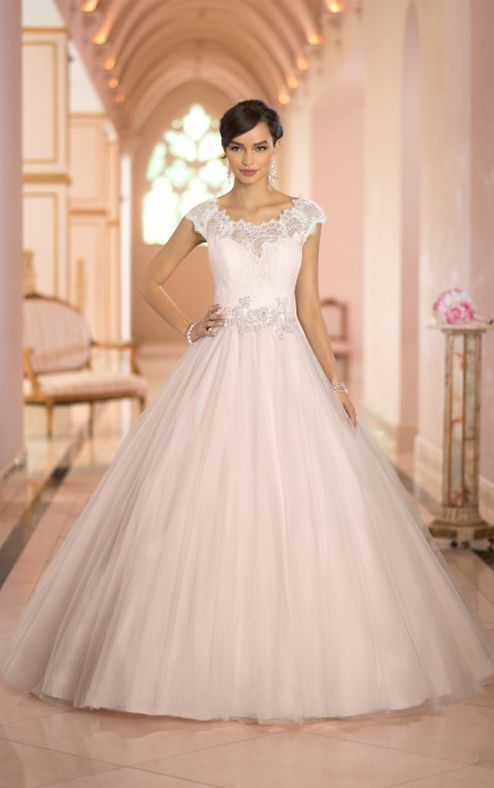 c9315ca59b98c For brides looking for wedding dresses fit for a princess, this gorgeous  designer ballgown from the Stella York collection features a sheer Lace  neckline ...