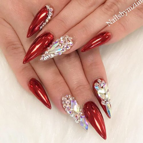 Stiletto Shaped Nails Design For A Special Occasion