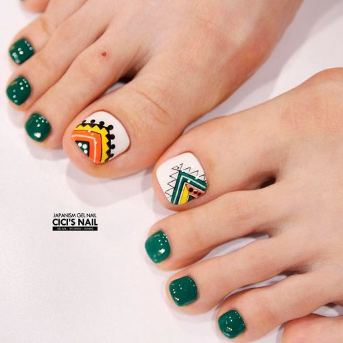 248 Creative Nail Art Designs For Girls Looking To Up: 27 TOE NAIL DESIGNS TO KEEP UP WITH TRENDS