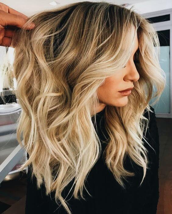 47 Bombshell Blonde Balayage Hairstyles that are Cute and