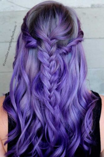 24 Braided Hairstyles For Your Purple Hair My Stylish Zoo