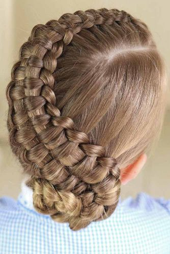 The zipper braid updo can be done in a variety of directions. It is a tricky but elegant look that once mastered can be modified for multiple occasions.