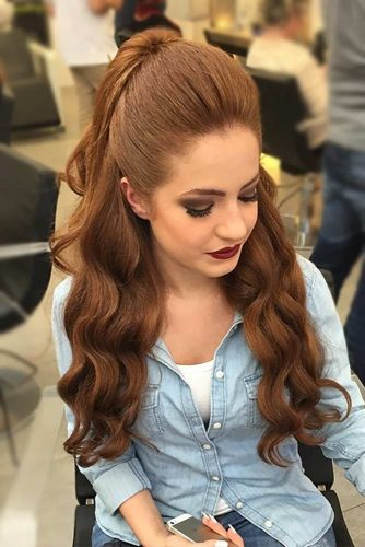 21 Quick And Easy Half Ponytail Hairstyles For Straight And