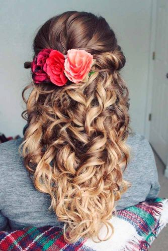 30 Half Up Half Down Bridesmaid Hairstyles My Stylish Zoo