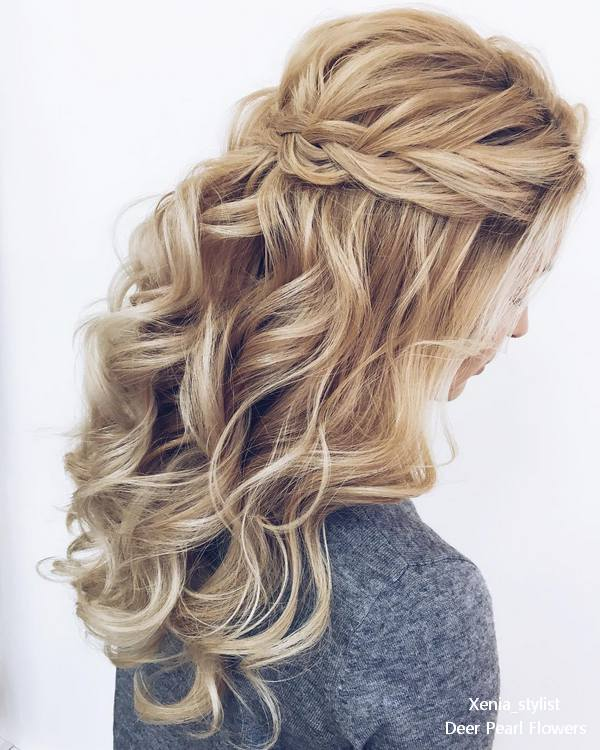 Wedding Hairstyles Down: 25 Elegant Wedding Hairstyles And Updos From Xenia_stylist