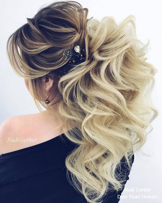 18 Creative And Unique Wedding Hairstyles For Long Hair: 17 Best Long Wedding & Prom Hairstyles From Nadi Gerber