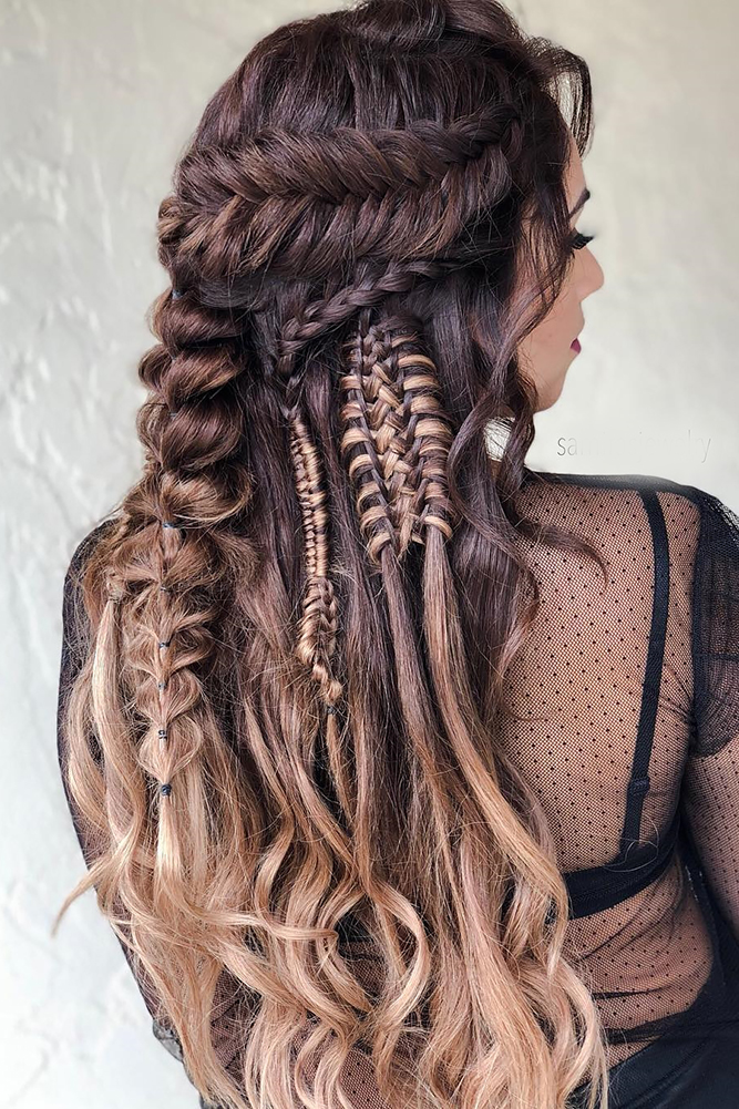 35 Boho Inspired Unique And Creative Wedding Hairstyle ...