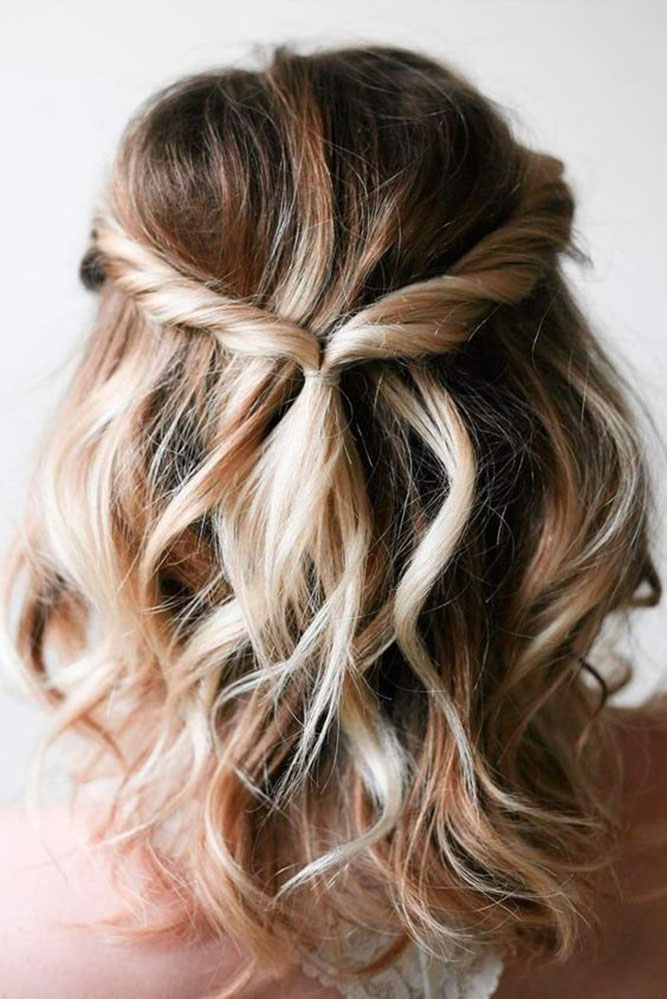 25 Cute And Easy Wedding Hairstyles My Stylish Zoo