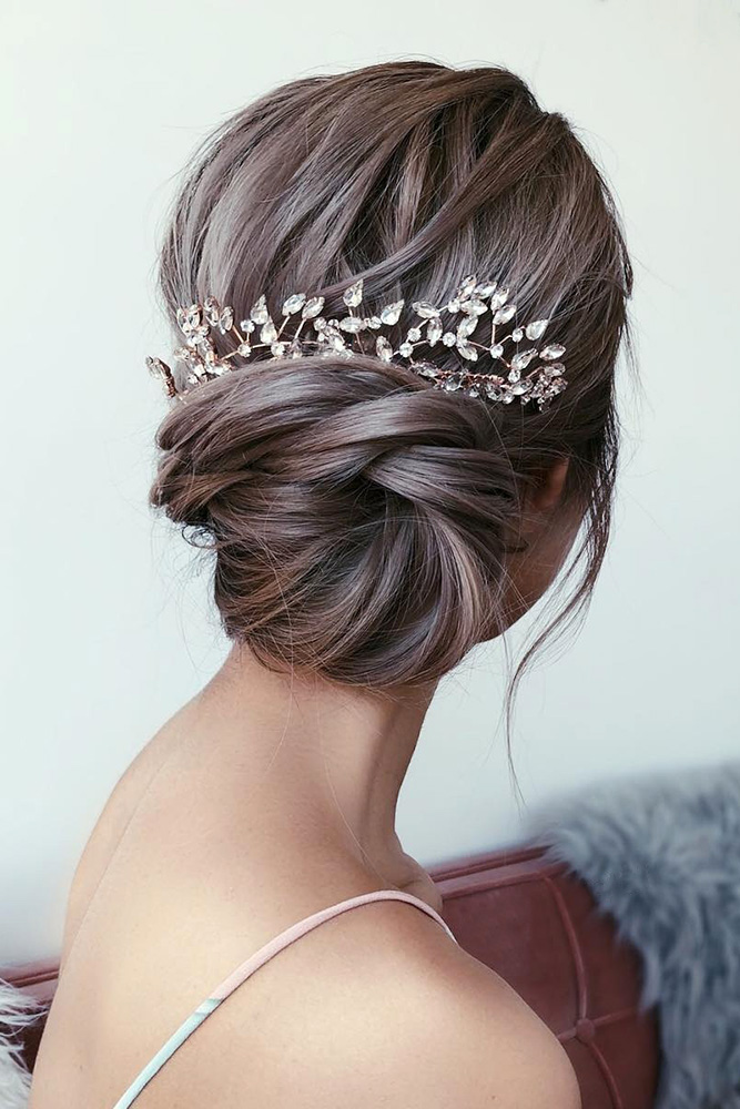 25 ELEGANT WEDDING HAIRSTYLES FOR GENTLE BRIDES - My Stylish Zoo