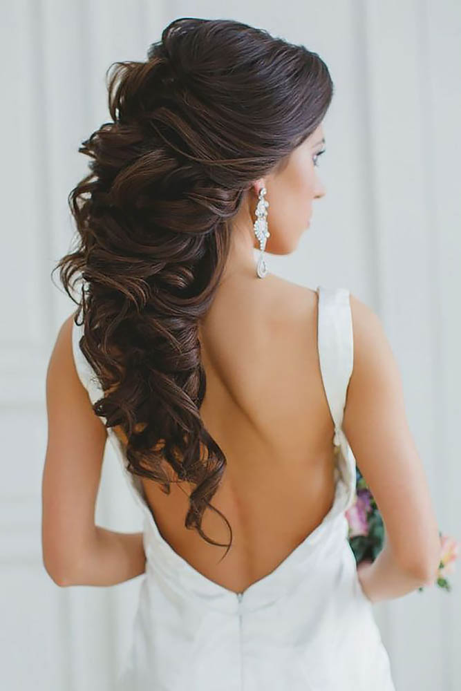 35 HALF UP HALF DOWN WEDDING HAIRSTYLES IDEAS - My Stylish Zoo