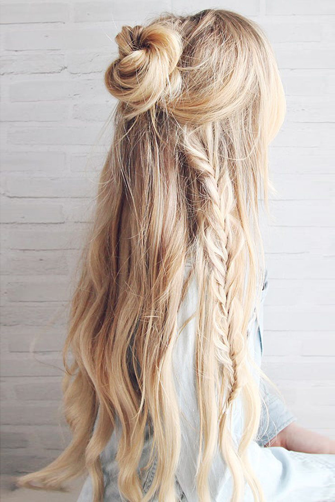 18 Creative And Unique Wedding Hairstyles For Long Hair: 35 Boho Inspired Unique And Creative Wedding Hairstyle