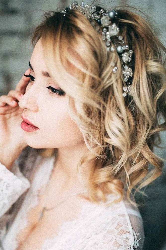 30 EXQUISITE WEDDING HAIRSTYLES WITH HAIR DOWN - My