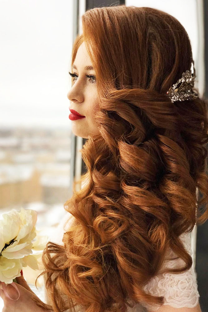 30 Exquisite Wedding Hairstyles With Hair Down My Stylish Zoo