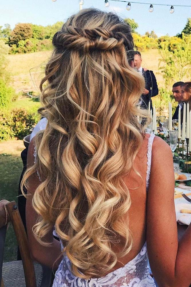 30 EXQUISITE WEDDING HAIRSTYLES WITH HAIR DOWN \u2013 My Stylish Zoo