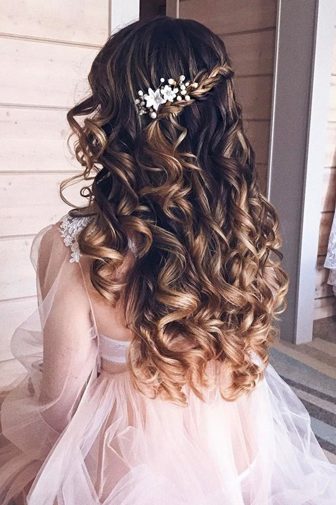 Wedding Hairstyles Down.30 Exquisite Wedding Hairstyles With Hair Down My Stylish Zoo
