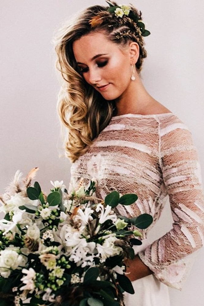 30 Captivating Wedding Hairstyle For Medium Lenght Hair