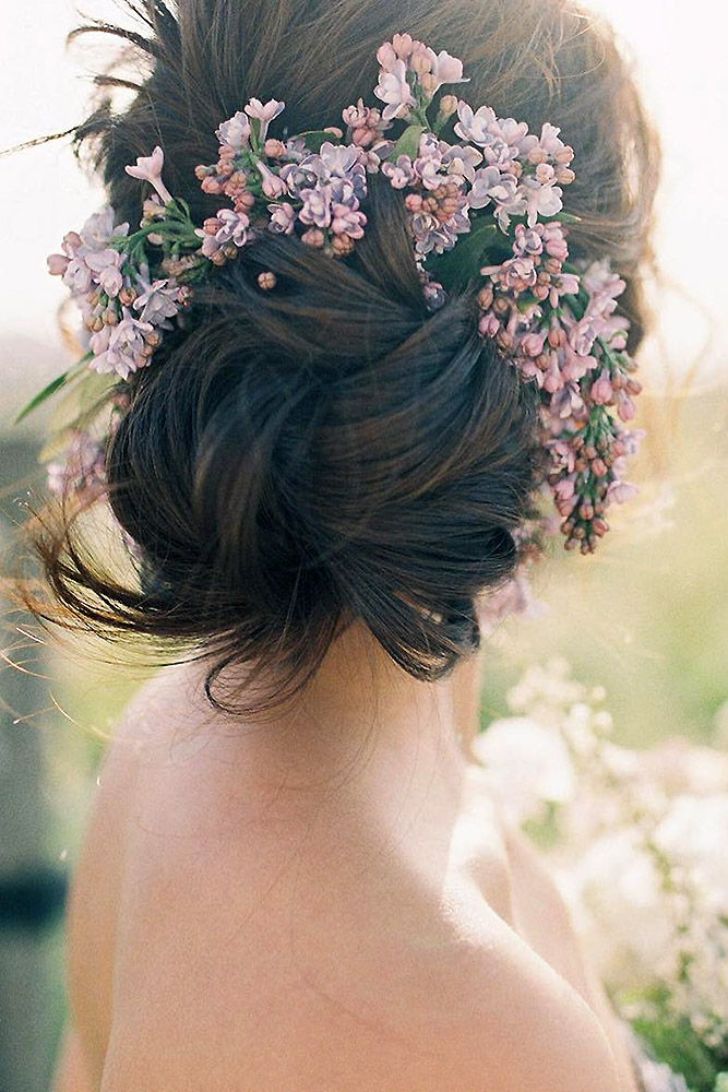 30 Unforgettable Wedding Hairstyles With Flowers My