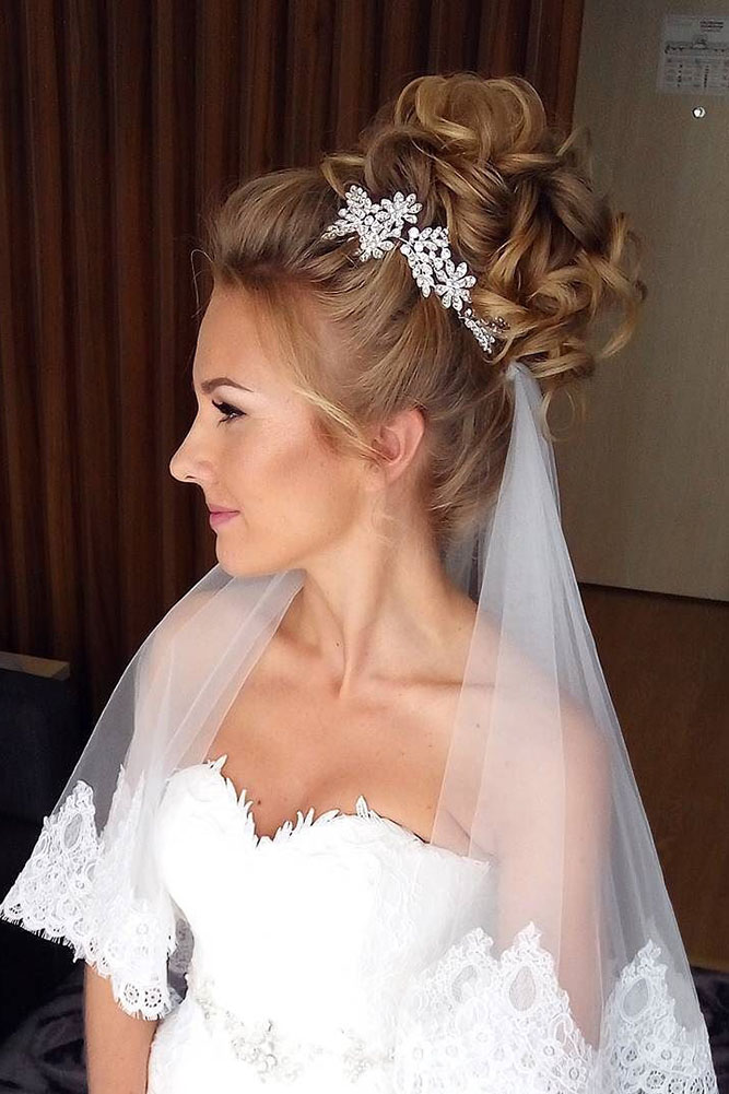 36 Wedding Hairstyles With Veil - My Stylish Zoo
