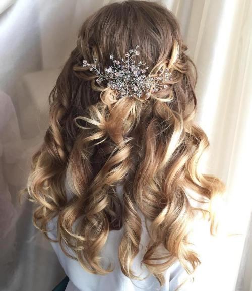 Wedding Hairstyle Up Or Down: 30 Creative Half Up Half Down Wedding Hairstyles Weddings