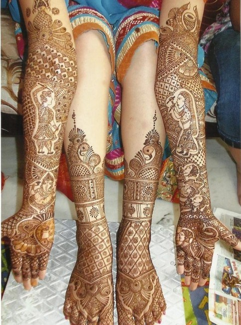 Top 35 Bridal Mehndi designs for full hands and legs For Women 2020